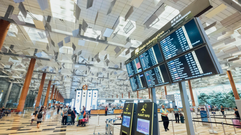 Airport broadcasting soothing and relaxing music to passengers